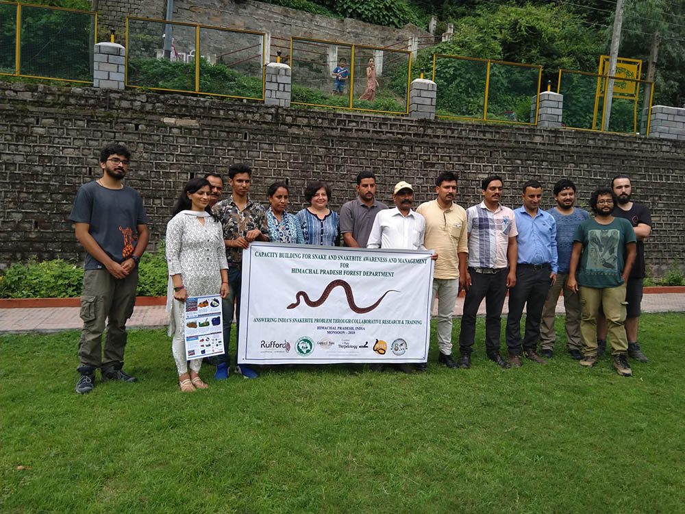 Participants at a workshop for Forest Department officers in Mandi, Himachal Pradesh